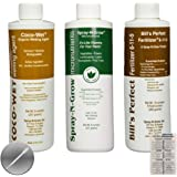 Coco-Wet Organic Wetting Agent, Spray-N-Grow Micronutrients & Bill's Perfect Fertilizer (Pack of 3 - 8 oz Bottles) + Twin Canaries Chart & Pipette