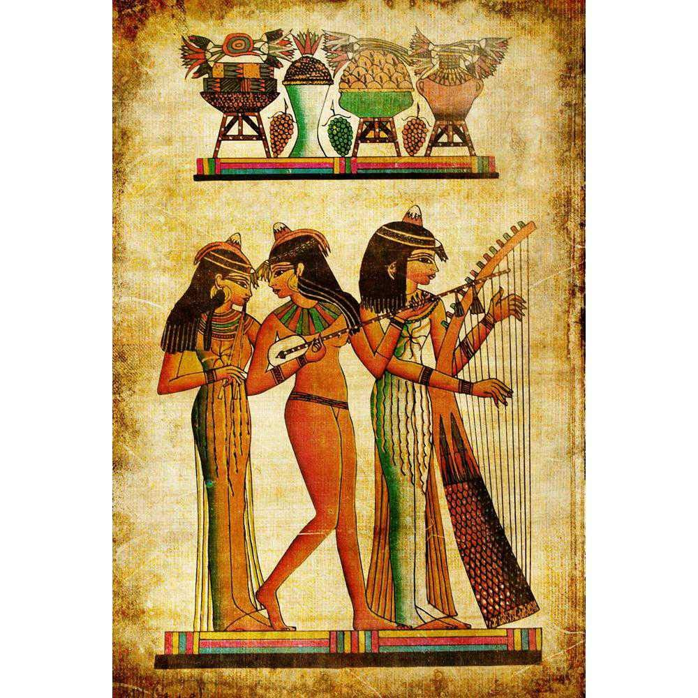 Amazon.com : ArtzFolio Old Egyptian Papyrus Printed Bulletin ...
