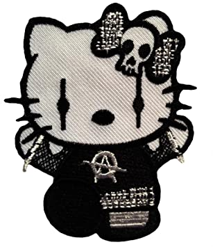 Amazoncom Gothic Hello Kitty Goth Punk Rock Emo Patch  65 x 8