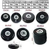 MIAYAYA - Dos ruedas de repuesto para maletas o patines en línea, con rodamientos ABEC
