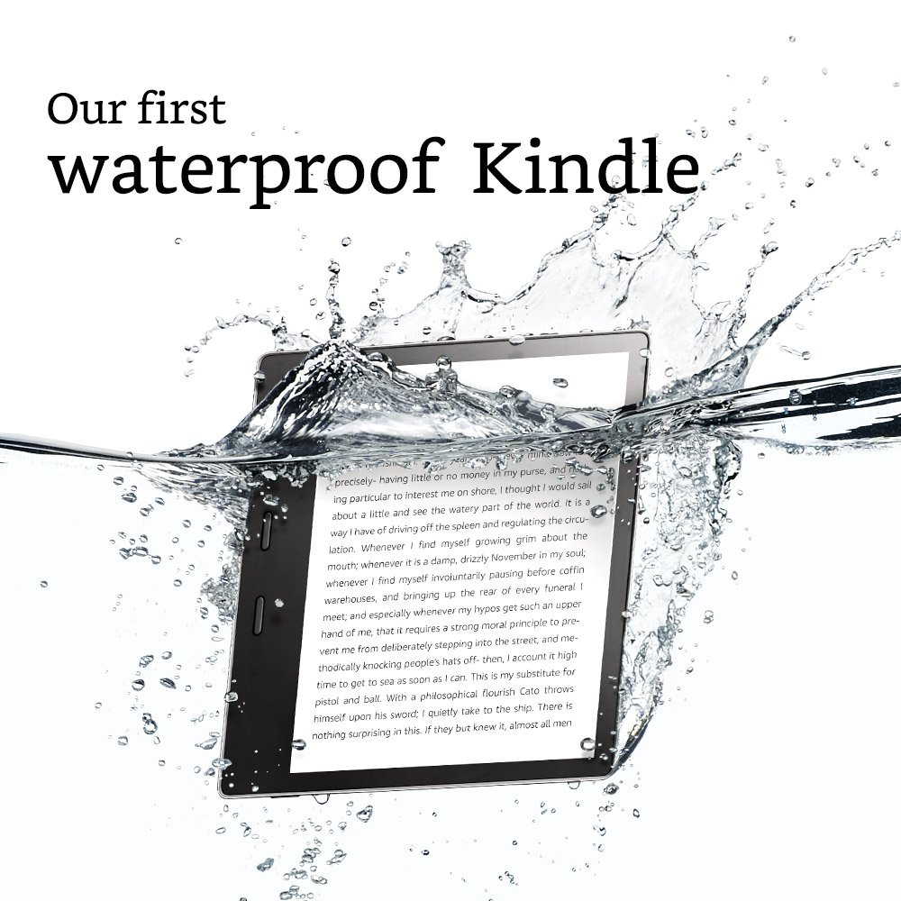 "Kindle Oasis E-reader - 7"" High-Resolution Display (300 ppi), Waterproof, 32 GB, Wi-Fi (International Version)"