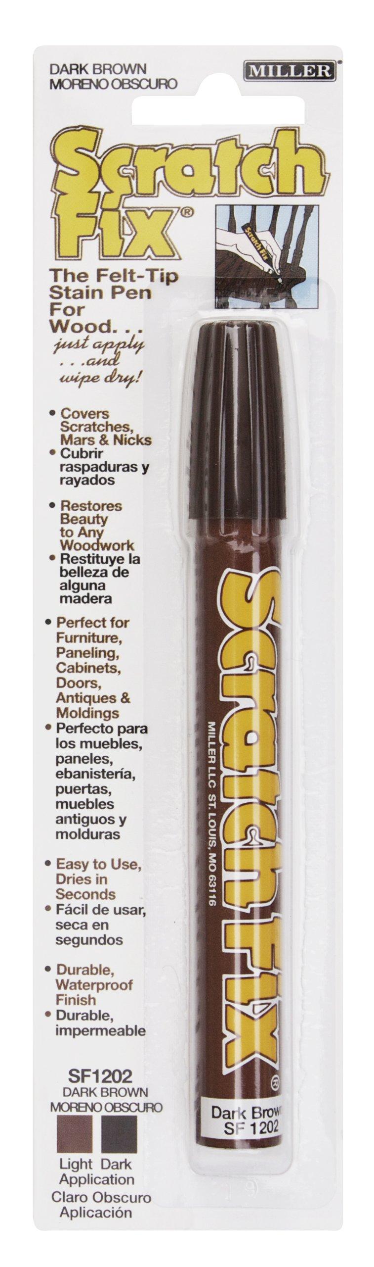 Miller SF1202 Wood Stain Scratch Fix Pen / Wood Repair Marker - Dark Brown Wood