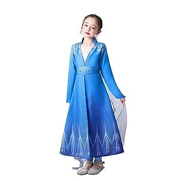 URAQT Disfraz Elsa Frozen, 100CM: Amazon.es: Juguetes y juegos