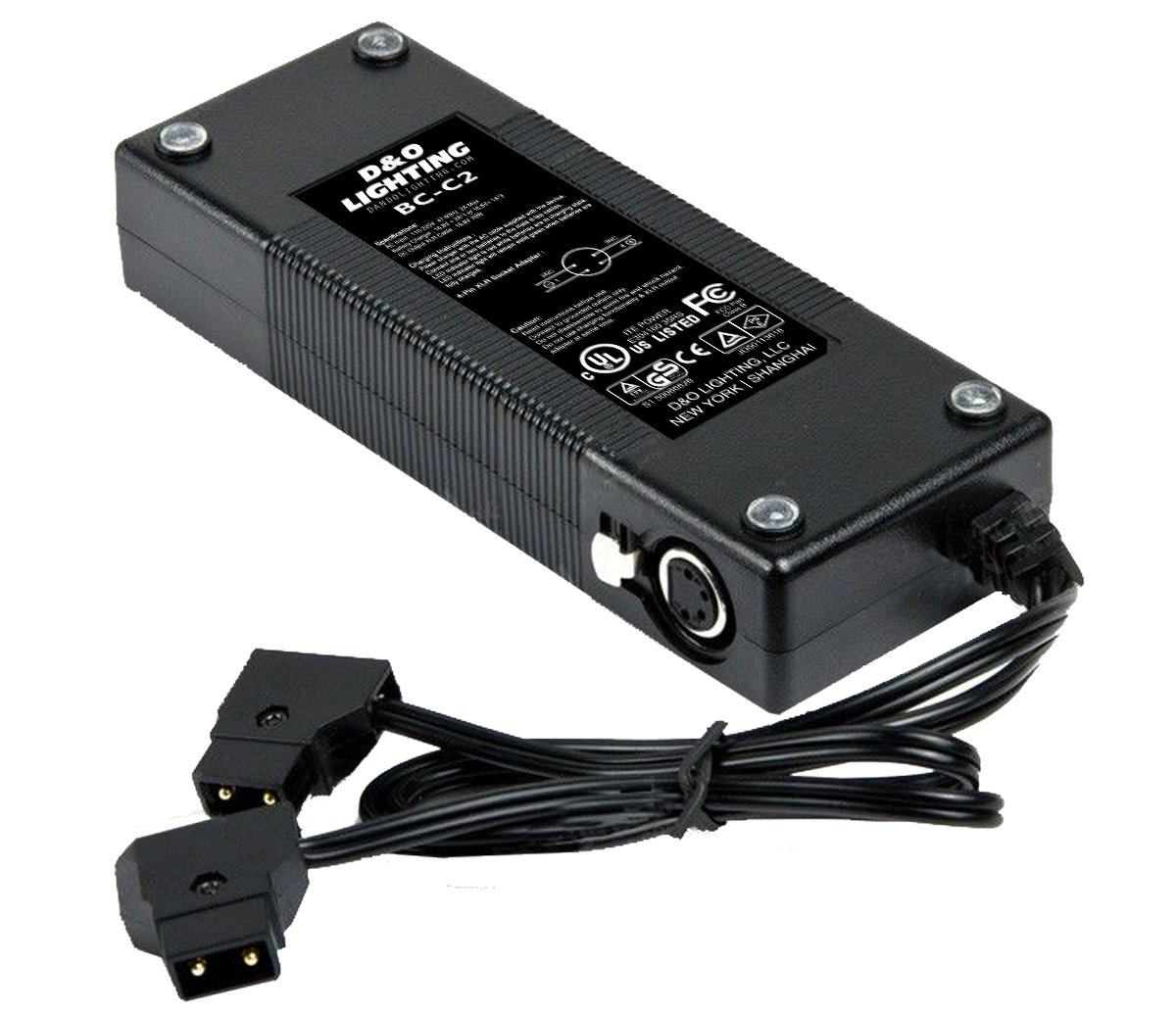 Dual D-Tap (P Tap) Travel Charger For Sony V-Mount/V Lock and Anton Bauer Gold Mount Batteries