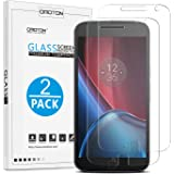 OMOTON® Pellicola Protettiva Moto G4 Plus in Vetro Temperato Screen Protector Film Ultra Resistente (2 pezzi, No-Bubble Installation)