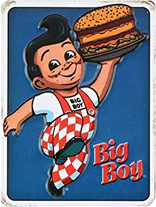 Open Road Brands Big Boy Vintage Retro Embossed Metal Magnet Art Sign - an Officially Licensed Product Great Addition to Add What You Love to Your Home/Garage Decor
