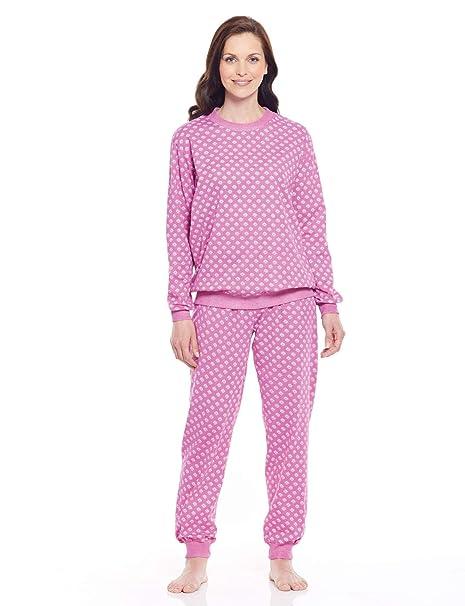 Chums Pijamas de Algodón, para Mujer Rosa UK 10 / EU 38