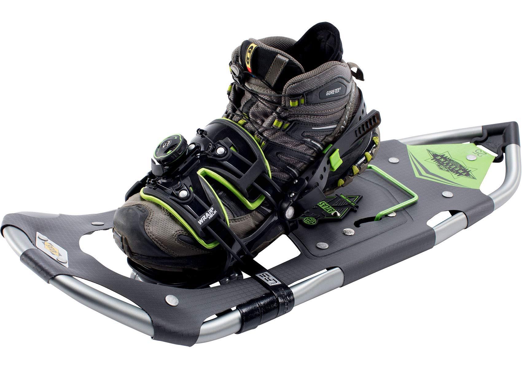 Atlas Snowshoes Company Men's Treeline Day Hiking Snowshoes, Grey/Green, 30''