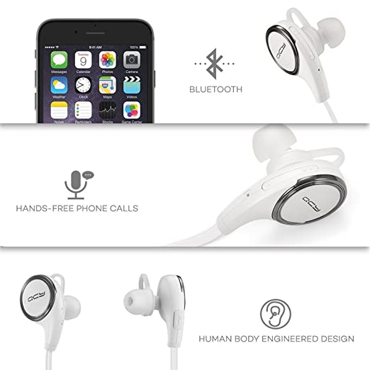 QY8 deporte auriculares in-ear estéreo inalámbrico auriculares Bluetooth 4,1 auriculares: Amazon.es: Electrónica