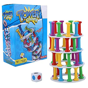 Wobbly Tower Collapse Game Education Kids Toy Family Party Juego ...
