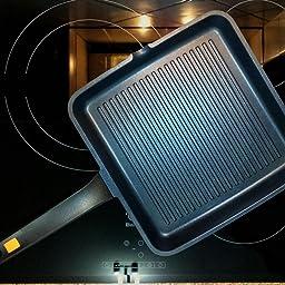 BRA A271422 Efficient - Grill asador con rayas, aluminio fundido ...