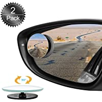 Oumers Blind Spot Mirrors for Cars, 2Pack 360°HD Glass Rotatable Waterproof Frameless Convex Rear View Mirror Side…