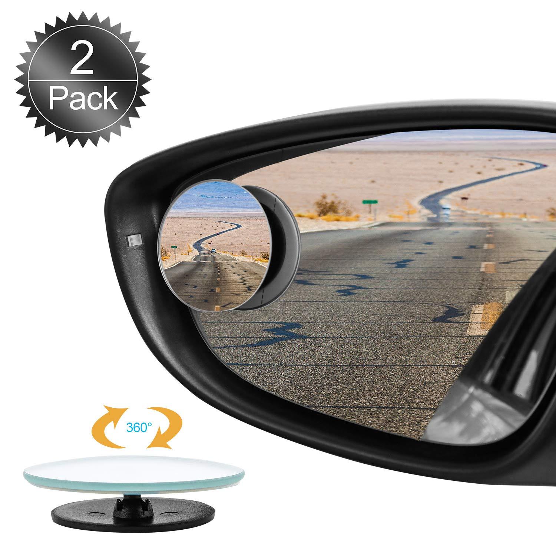 Specchietti per Angolo Morto, Oumers 2 Pezzi Specchietti Ciechi 360 ° vetro HD girevole impermeabile senza telaio Blind spot specchi Punto cieco specchio tondo Universale per auto, furgoni, camion, moto