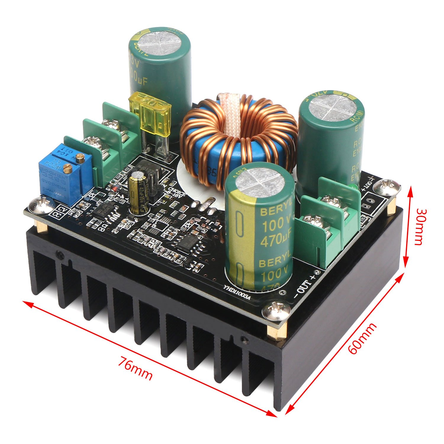 Drok 600w 12a Dc Boost Voltage Converter 12 60v To Step Up Circuit 80v Power Supply Transformer Module Regulator Controller Constant Volt Amp Car