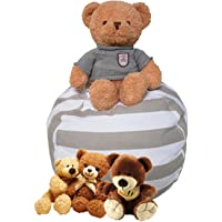 Kids Stuffable Storage Bean Bag - Clean up Your Kid's Room and Put Those Stuffed Animals to Work for You!