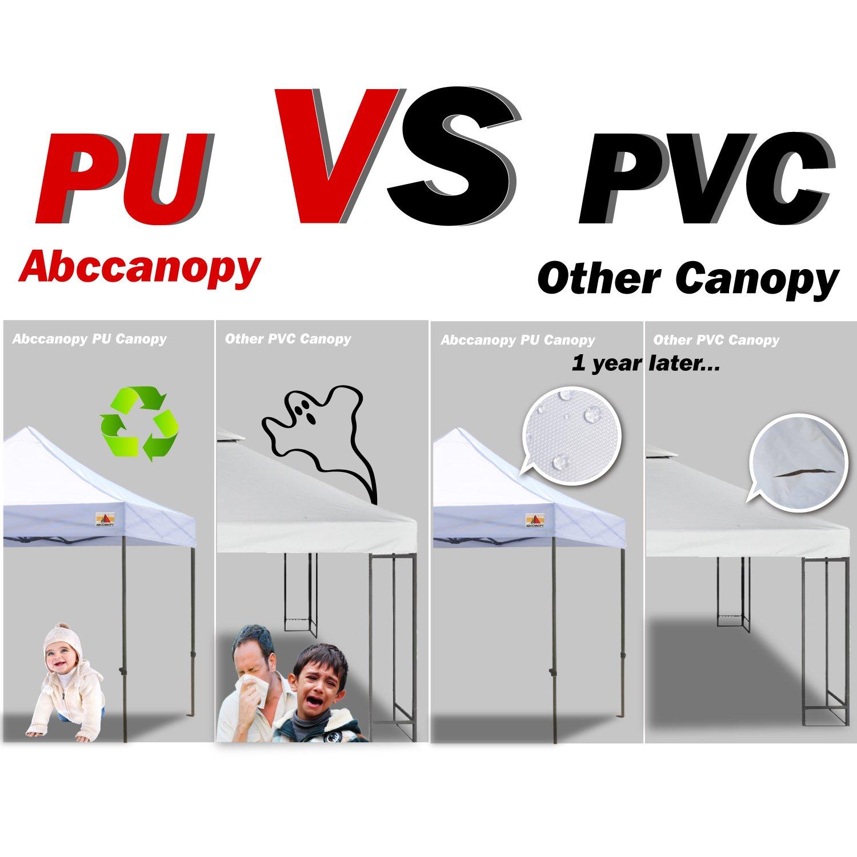 ABCCANOPY Pop Up Canopy 10 X 10-feet Commercial Instant Canopy Kit Ez Pop up Tent,Bonus Carrying Bag,Gray
