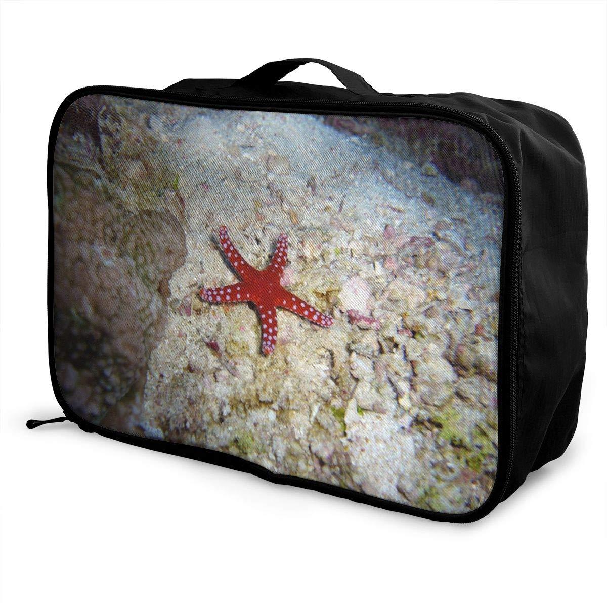 Water Sea Starfish Travel Lightweight Waterproof Foldable Storage Carry Luggage Large Capacity Portable Luggage Bag Duffel Bag