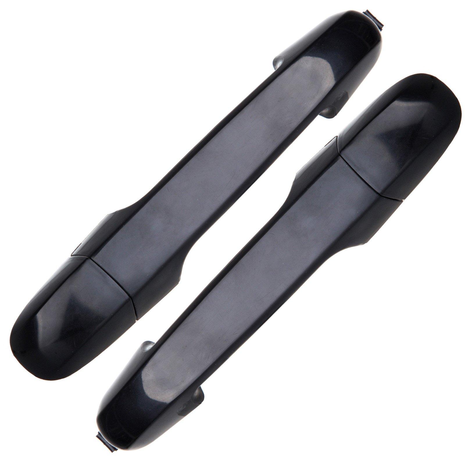SCITOO 2Pcs Door Handle Black Exterior Rear Right Left Side fits Hyundai Elantra 2006-2012