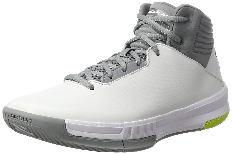 Under Armour Men's Lockdown 2 Basketball Shoe B01NCL8HZB 8 D(M) US|White/Steel/Steel