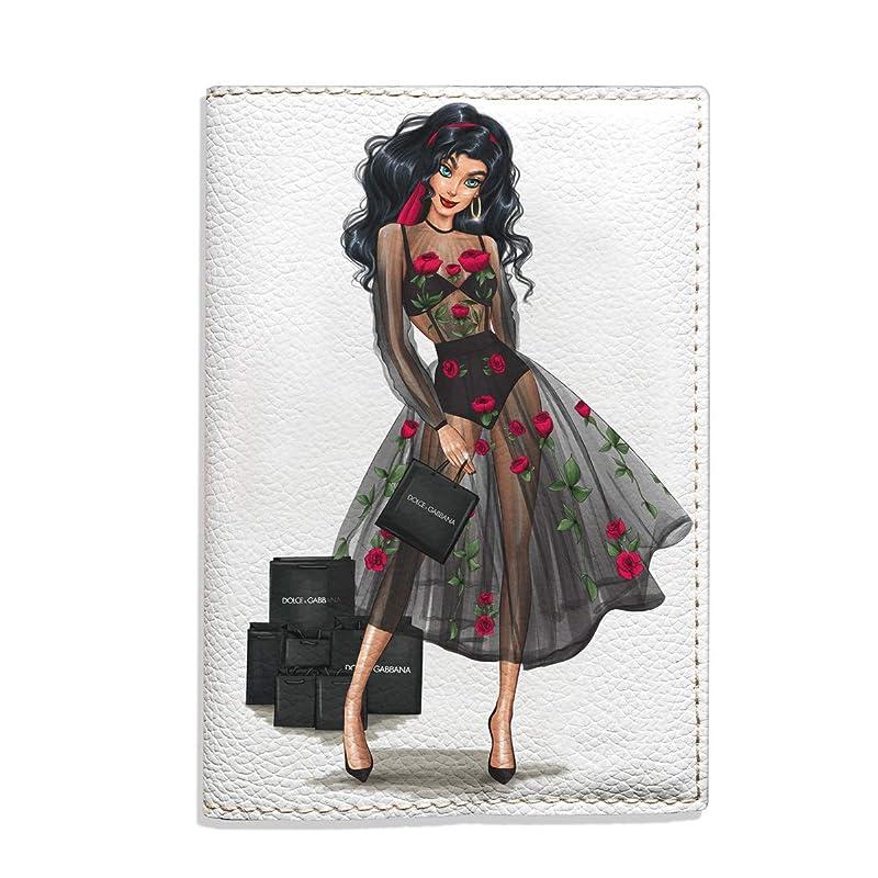 Da Capo Ii Girl Blonde Dress Nature Profile Leather Passport Holder Cover Case Travel One Pocket
