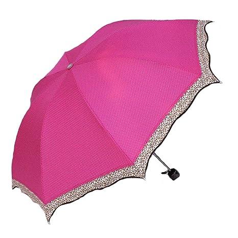 Leopardo Yingke UV 30 sombrilla sombrillas fuera paraguas doblado