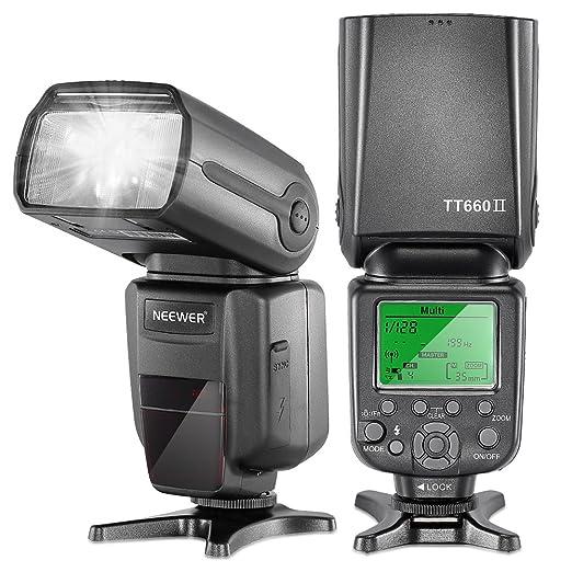 13 opinioni per Neewer 5500k Torcia con lampeggiatore professionale 2.4G Wireless NW TT660 II