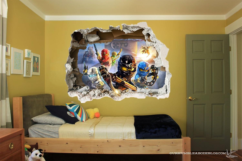 fantastisch wandtattoo kinderzimmer ninjago galerie die besten wohnideen. Black Bedroom Furniture Sets. Home Design Ideas