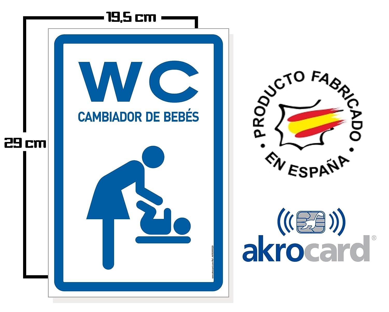Se/ñaletica de Aviso HOMBRE Cartel Resistente PVC Ideal para Colgar WC CAMBIADOR DE BEB/ÉS