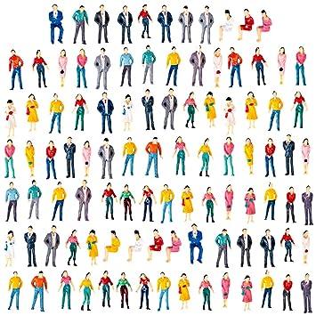 Polai 100 Piezas 1:50 Escala Personas Maqueta Personas ...