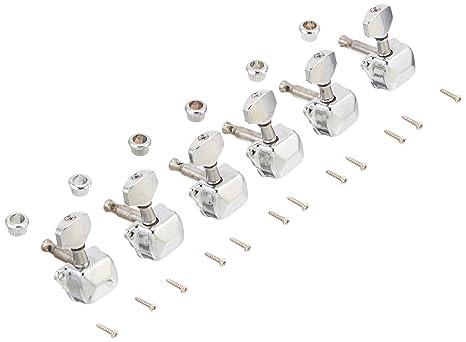 Kmise A0593 6 piezas 6R semicerradas guitarra eléctrica clavijas de afinación sintonizadores Clavijas para guitarra Fender