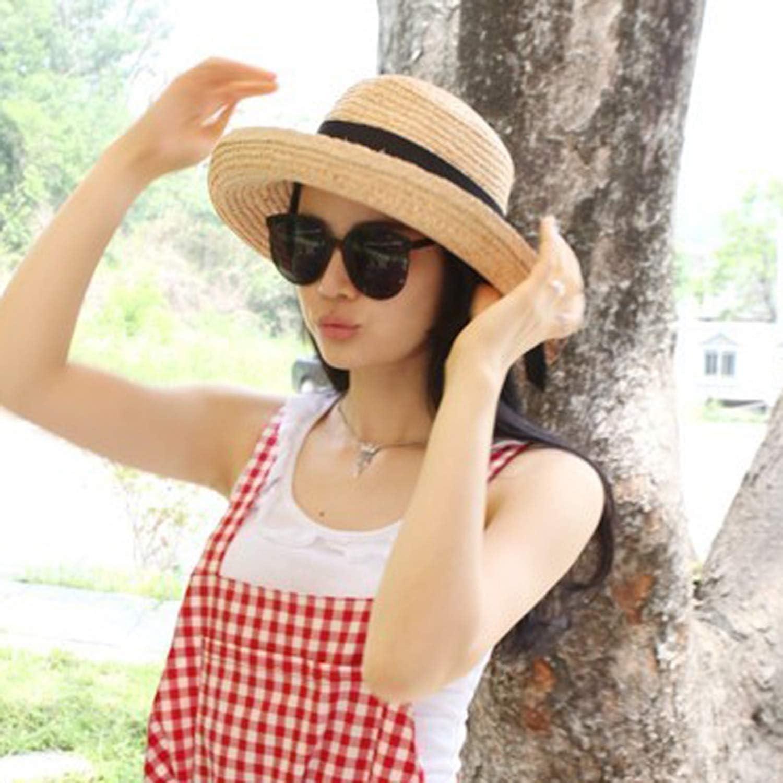 Female sea Beach Sun Visor Foldable Ladies Travel Holiday Big Along The Grass Hat
