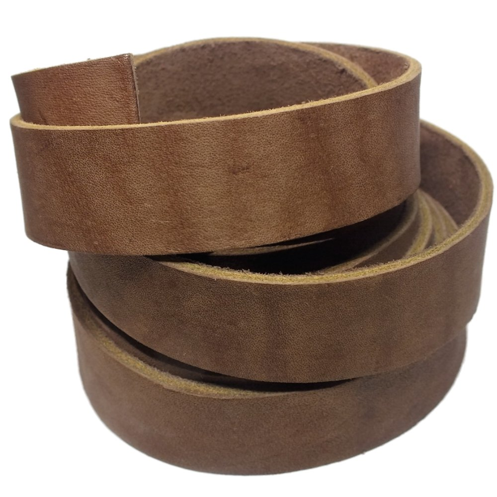 Leather Strap 7//8 Inch Wide 72 Inches Long by TOFL Natural
