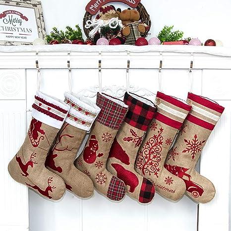 Holiday Stockings Family Stocking Set Sequin Red Christmas Stocking Set Christmas Stocking