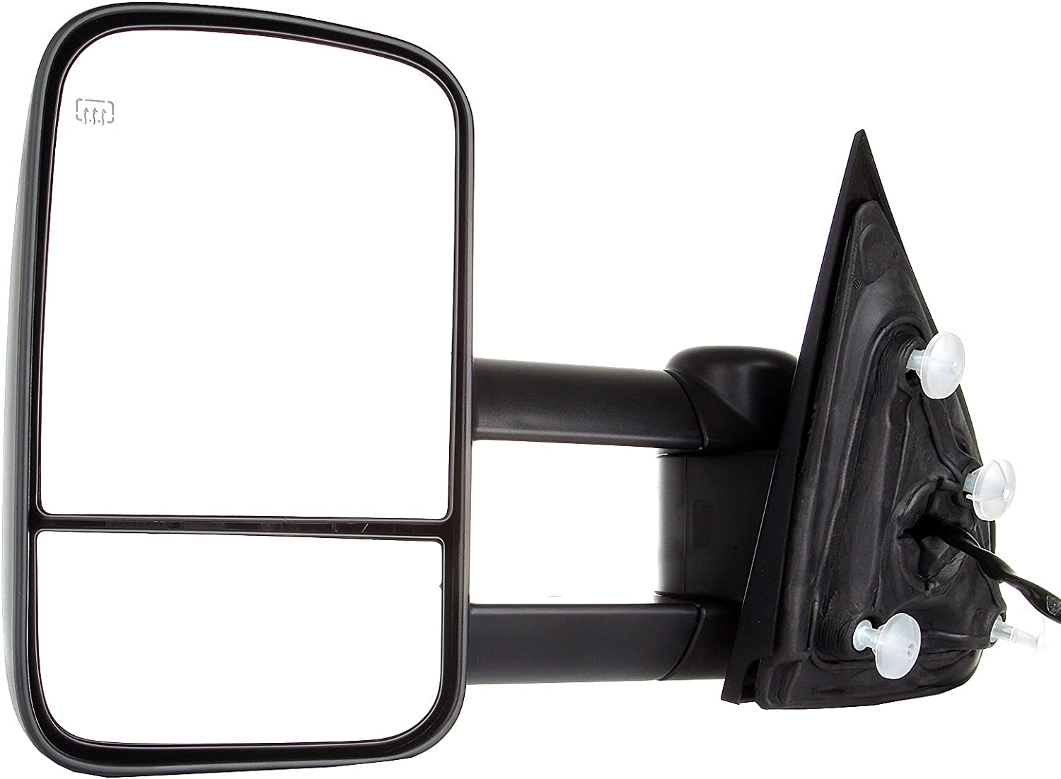 FINDAUTO Rear View Tow Mirrors Compatible with 2014-2018 Chevy GMC 1500 2015-2019 Chevy GMC 2500 HD 3500 HD Towing Mirrors with Left and Right Side Power Heated Without Turn Signal Light