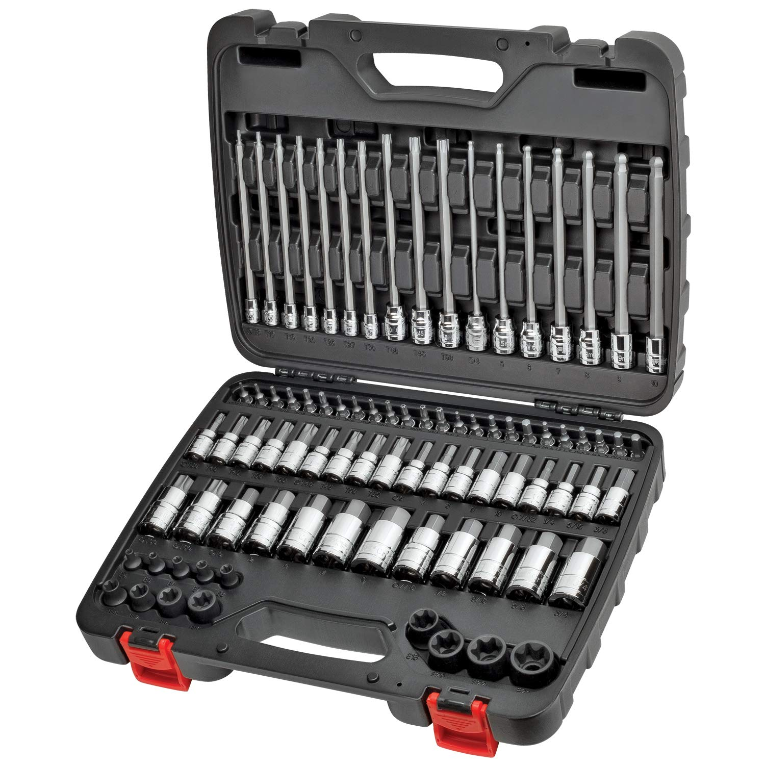 CARBYNE 84 Piece Master Hex & Torx Bit Socket Set | SAE & Metric, S2 Steel Bits | 1/4'', 3/8'' & 1/2'' Drive by Carbyne