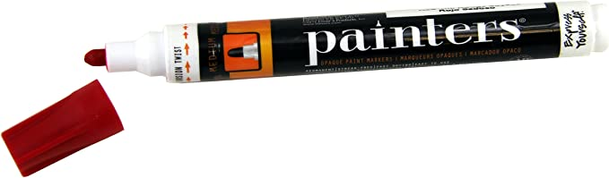 ELMERS CORPORATION 7337 PAINTERS MARKER RED MEDIUM CARDED