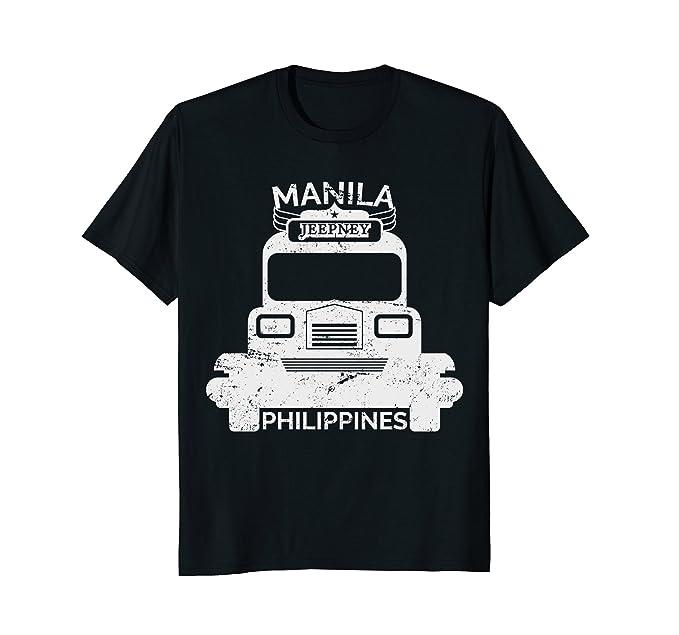 Amazon Com Manila Retro Philippines Jeepney T Shirt Clothing