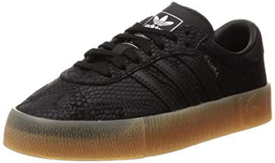 uk availability 039c1 aeede adidas Womens Sambarose Leather Black Gum Trainers 6 US