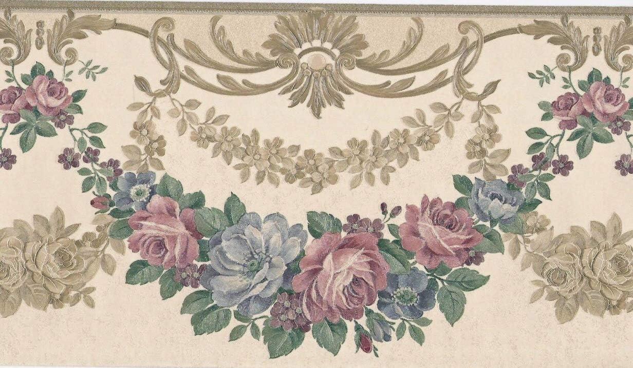 Satin Victorian Wreath Swag Wallpaper Border B5165s Amazon Com