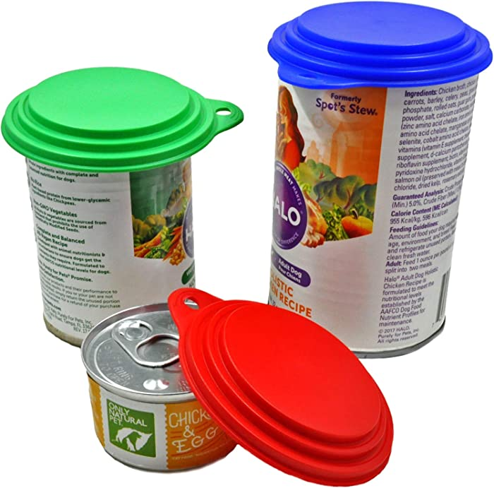 Dog, Cat, Human Food Can Covers - Made in USA - Sold by Vets – Fits Lg, Med & Small Cans - BPA-Free