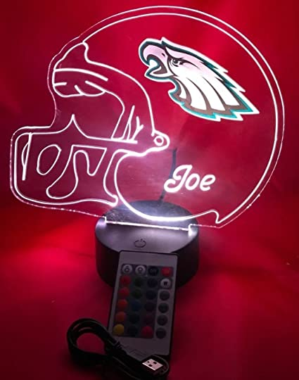 Amazon.com: Eagles NFL Light Up Lámpara LED con mando a ...