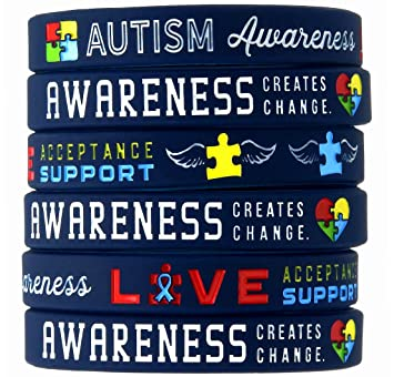 reminderband bracelet wristband bracelets awareness by autistic autism large blue