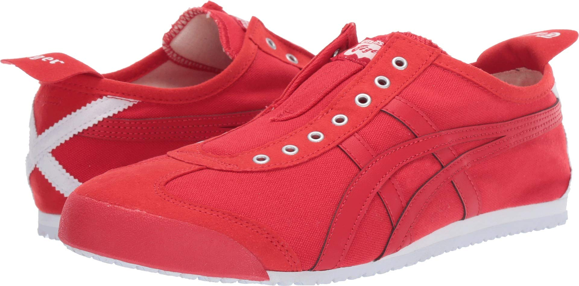 buy online d4964 0218a Onitsuka Tiger by Asics Unisex Mexico 66¿ Slip-On Classic Red/Classic Red  11 Women / 9.5 Men M US
