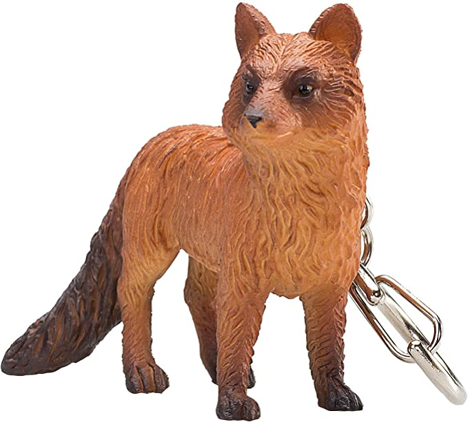 Assorted American Red Fox Keychains