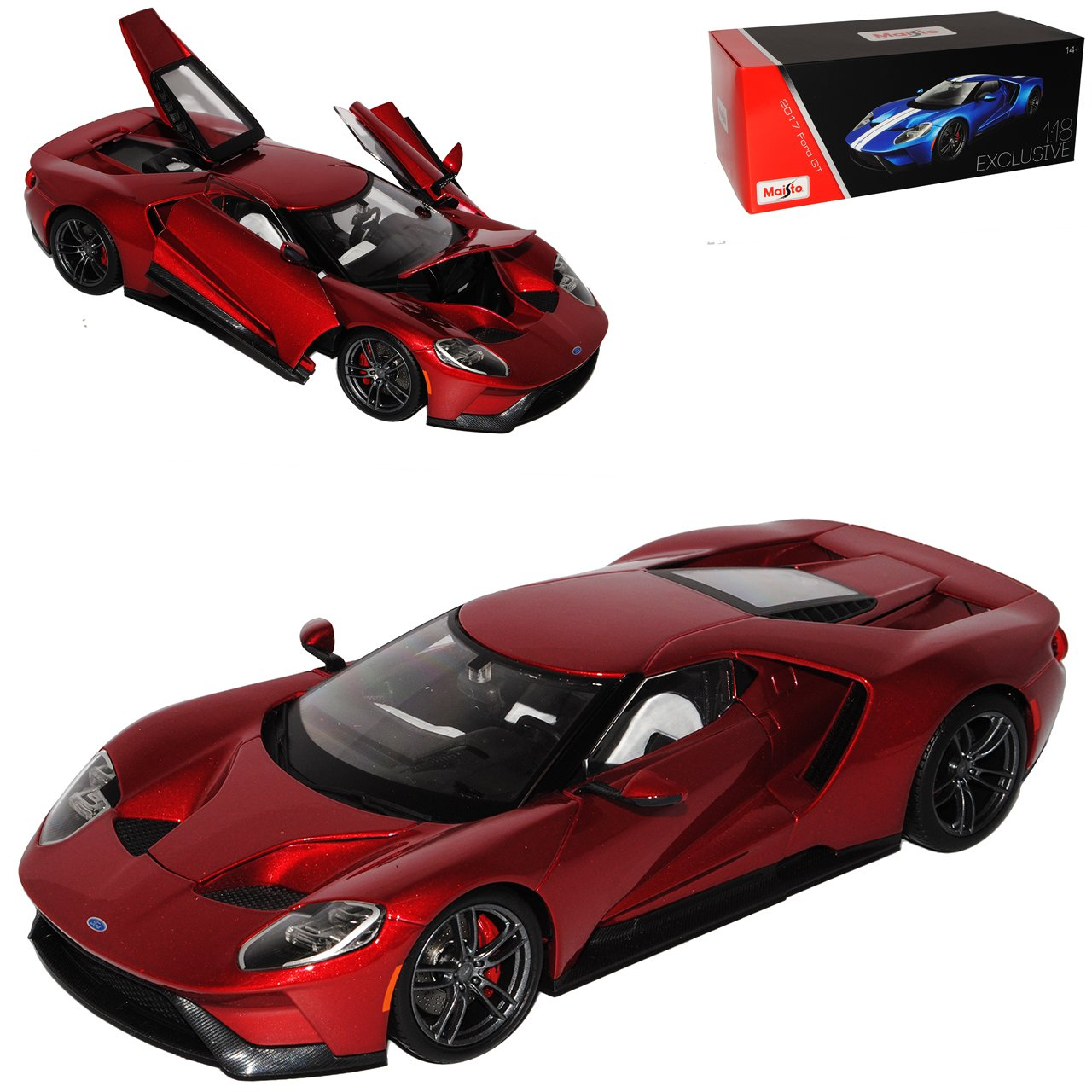 Maisto Ford GT 2017 Coupe Rot Metallic Exclusive Collection 1/18 Modell Auto