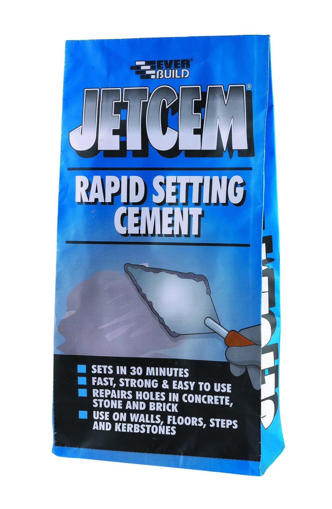 Fast setting repair cement JetCem Rapid Set Cement 3kg Grey