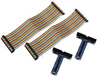 COM-FOUR® Cobbler Plus - Cable multicolor con juntas de extensión en forma de T, 40pines GPIO, para Raspberry Pi B+, 2 Stück