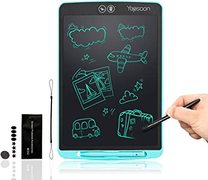 WHJ@ Black 12 Inches LCD Writing Tablet,LCD Writing Board Electronic Writing Board Can Wipe Large Inch Childrens Electronic Check Board