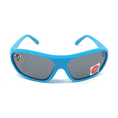 Disney Junior Kid's Mickey and the Roadster Racers Sunglasses - Mickey Mouse Character with Turquoise Frame - 100% UV Protection