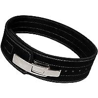 Genuine Leather Lever Heavy Duty Gym bar Power Weight Lifting Bodybuildying Belt